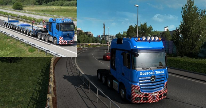Rostock Trans Skin for Mercedes Benz Actros 2014 category: Trucks