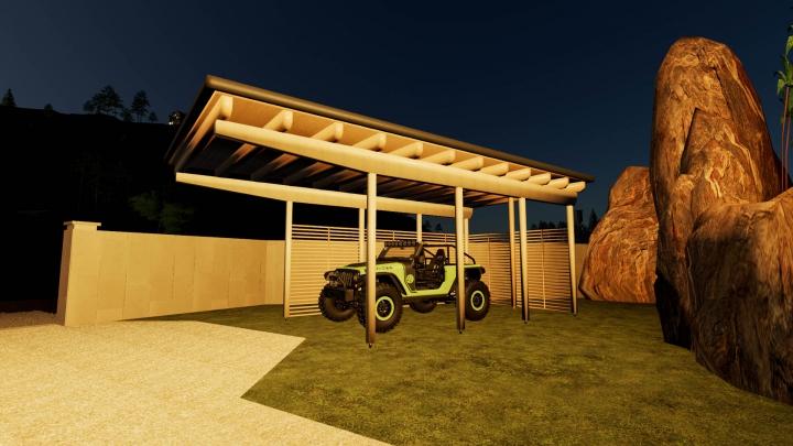 Trending mods today: Wooden CarPort