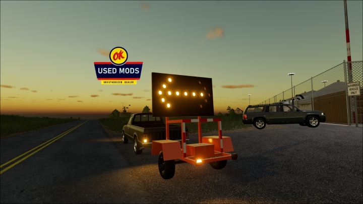 Trending mods today: Construction Arrow Trailer - By OK USED MODS