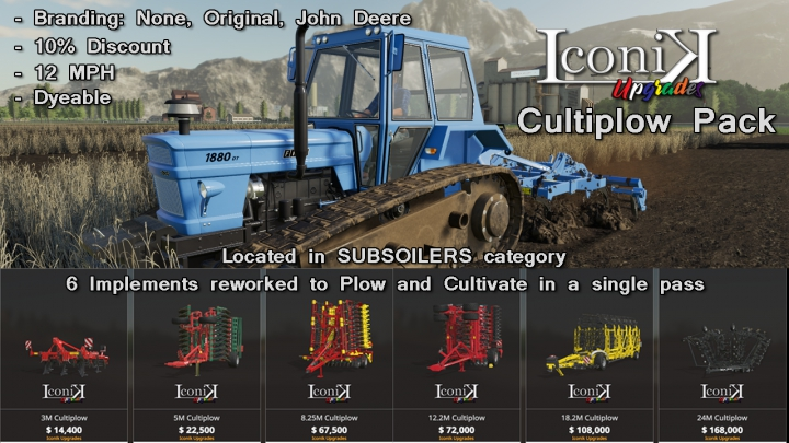 Iconik Cultiplow Pack category: Plows