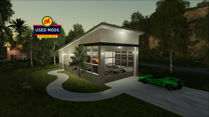 Trending mods today: Modern Garage with Workshop Function - By OK USED MODS