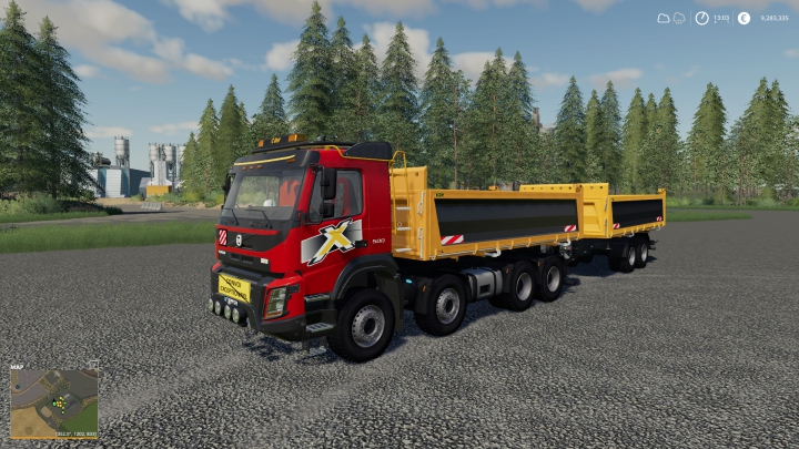 Trending mods today: Volvo FMX 8x4 + Meiller Tandem Pack