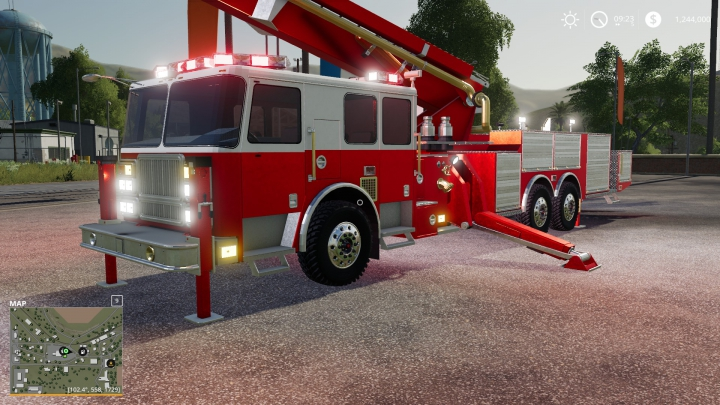Best mods from the day: FS19 Ladder Fire Truck.