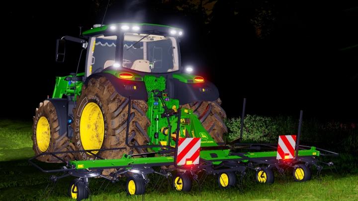 John Deere Tedder v1.1.0.0 category: Tractors