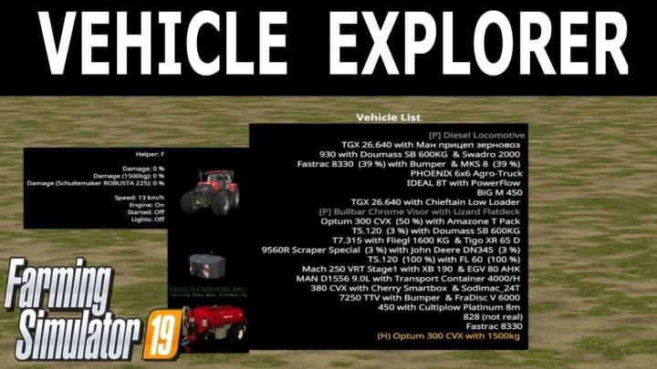 Trending mods today: Vehicle Explorer v0.9.4.8