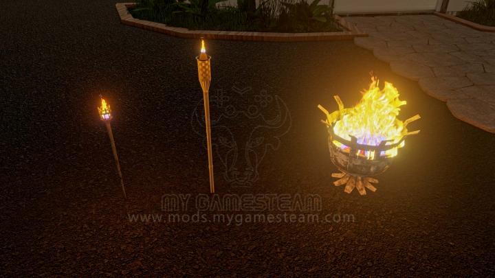 Trending mods today: Garden Torch Light Pack