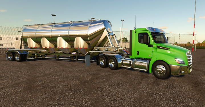 Trending mods today: Freightliner Cascadia P4 Day Cab for Farming Simulator 19.